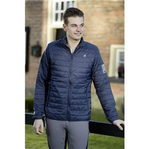 HKM Kingston Herren Softshell-Reitjacke HIGHLAND 3 in 1 dunkelblau XL