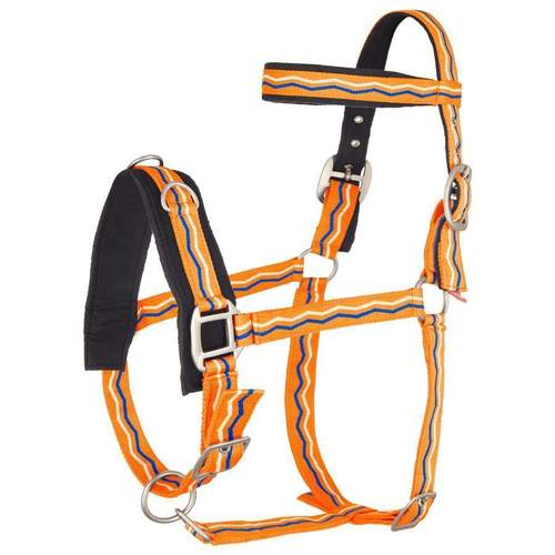 Imperial Riding Kappzaum NYLON neon orange Warmblut