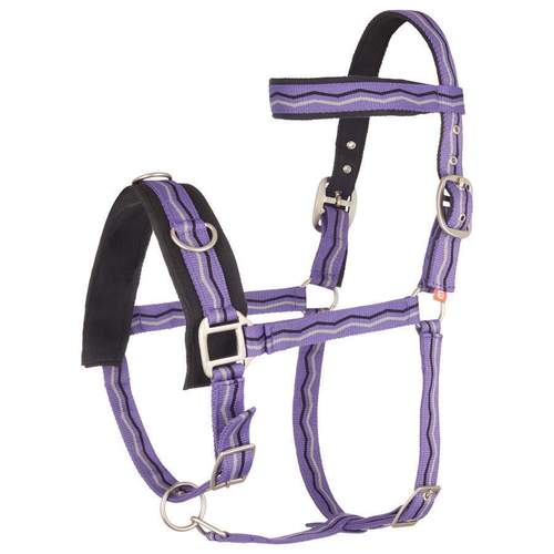 Imperial Riding Kappzaum NYLON royal purple Warmblut