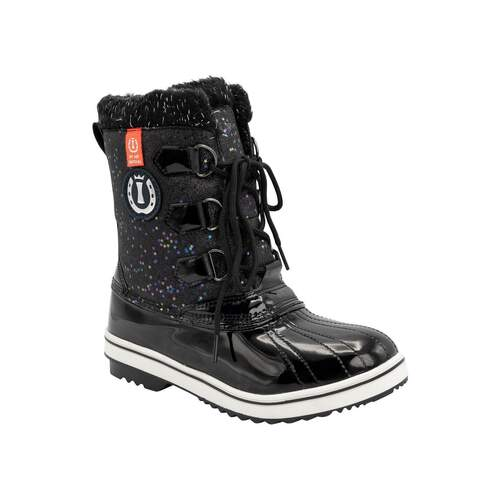 imperial riding winter stiefel colorful schwarz lack-glitter star 39