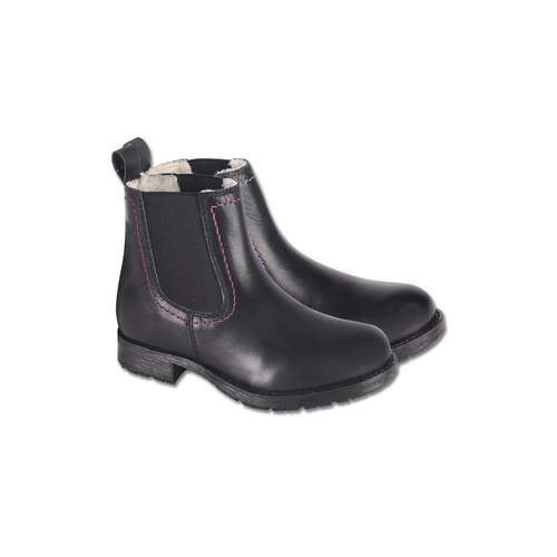 ELT Kinder Winter Reitstiefelette CLASSIC WINTER KIDS schwarz/azalee 32